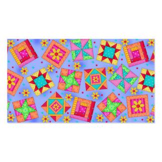 Quilt Block Art Periwinkle Lavender  Business Card