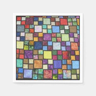 Quilt Block Napkin I