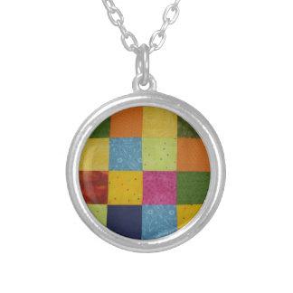 Quilt Block Necklace Patchwork