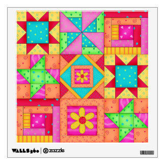 Quilt Blocks Nine Patch Wall Decal