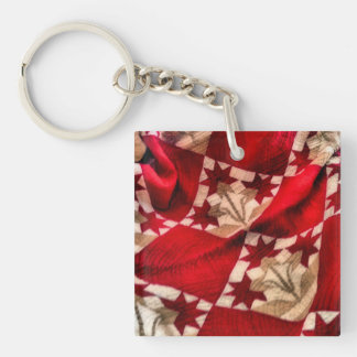 Quilt Bouquet Single-Sided Square Acrylic Keychain
