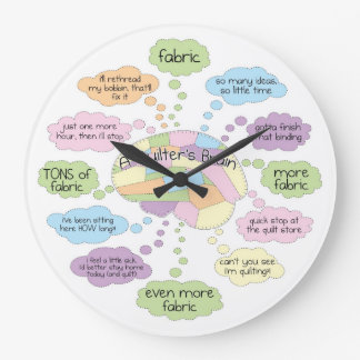 Quilt Brain Clock - Large