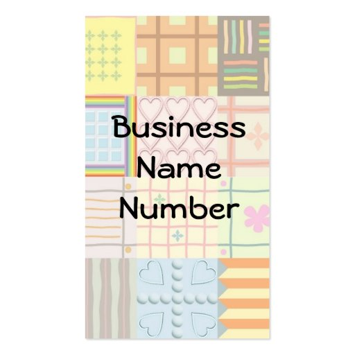 quilt business card zazzle. Black Bedroom Furniture Sets. Home Design Ideas