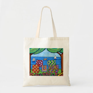 Quilt Cat tote Canvas Bags