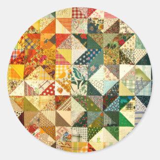 Quilt Classic Round Sticker