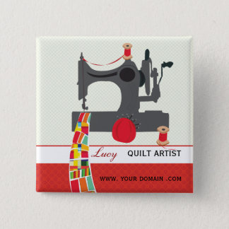 Quilt Craft Artist Name tag Button