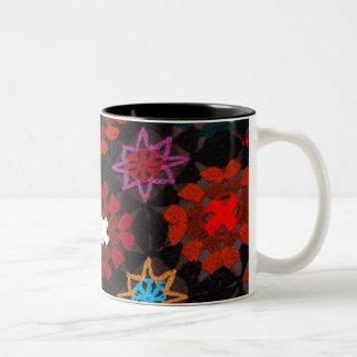 Quilt Crochet Two-Tone Coffee Mug