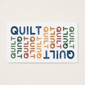 Quilt Cute Colorful Business Card