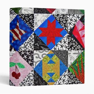 Quilt Design Vinyl Binder