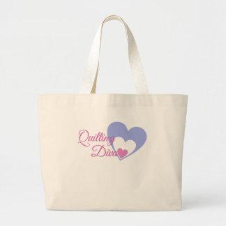 quilt-diva large tote bag