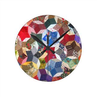 Quilt Fabric Round Clock