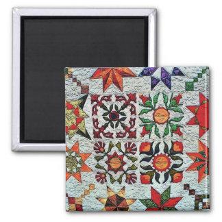 Quilt Flowers Magnet