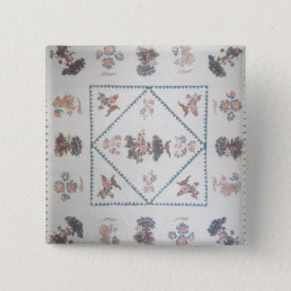 Quilt in 'Broderie Perse', c.1800 (applied, printe Pinback Button