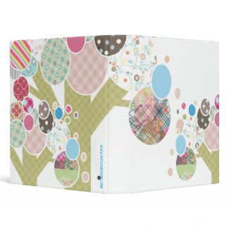 Quilt-Like Patterned Trees Custom Binder binder