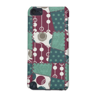 Quilt look purple and teal green Polka Dots iPod Touch 5G Covers