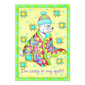 Quilt Lover Dog Invitation