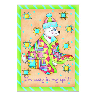 Quilt Lover Dog Invitation customizable