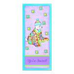 "Quilt Lover Dog Invitation, customizable 4"" X 9.25"" Invitation Card"