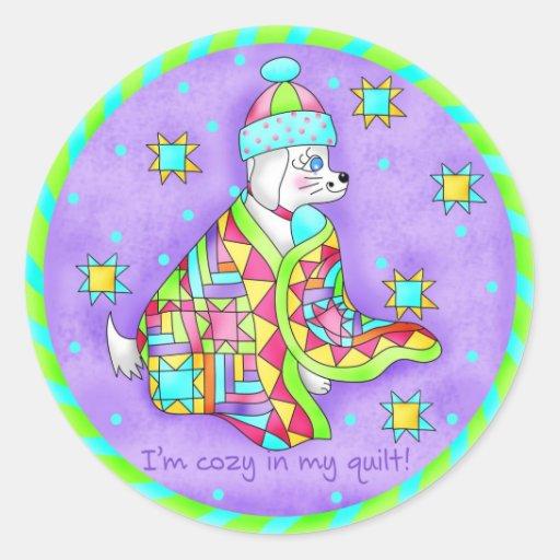 Quilt Lover Dog Sticker
