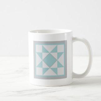 Quilt Mug - Sawtooth Star (blue/grey)