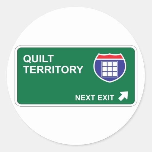 Quilt Next Exit Round Stickers
