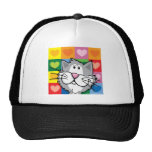Quilt of Hearts Cat Hat