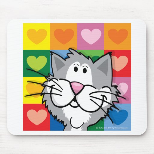 Quilt of Hearts Cat Mouse Pads