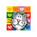 Quilt of Hearts Cat Postcards