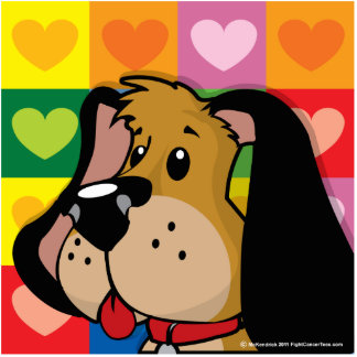 Quilt of Hearts Dog Cutout