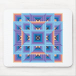 Quilt Pattern 3 in Blue and Purple Mousepad
