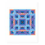Quilt Pattern 3 in Blue and Purple Post Card