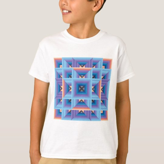 Quilt Pattern 3 in Blue and Purple T-Shirt