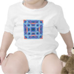 Quilt Pattern 3 in Blue and Purple T Shirts