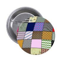 Quilt Pattern Button