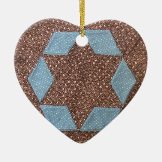 Quilt Pattern - Castle Ceramic Ornament
