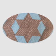 Quilt Pattern - Castle Oval Sticker