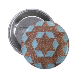 Quilt Pattern - Castle Pinback Button