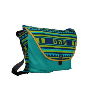 Quilt pattern custom monogram messenger bag