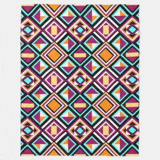 Quilt Pattern Fleece Blanket by KCS