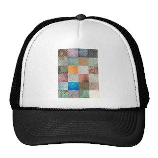 Quilt pattern trucker hat