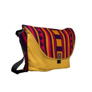 Quilt pattern messenger bag