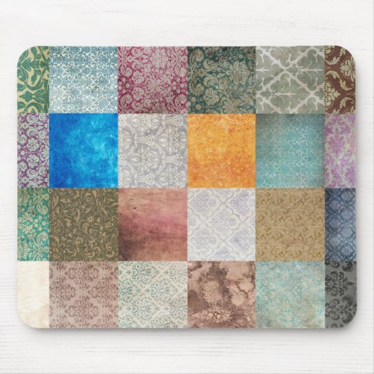 Quilt pattern mouse pad