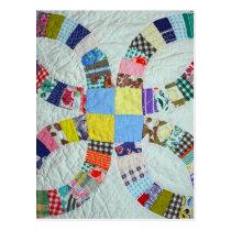 Quilt pattern postcard