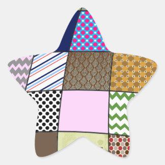 Quilt Pattern Star Sticker