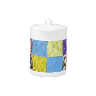 Quilt pattern teapot