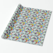Quilt pattern wrapping paper