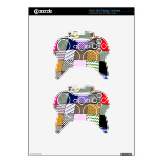 Quilt Pattern Xbox 360 Controller Decal