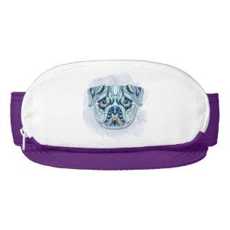 Quilt-Patterned Pug Face Visor