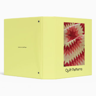 Quilt Patterns Binder