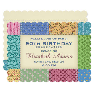 Quilt Personalized | Custom Year Invitation